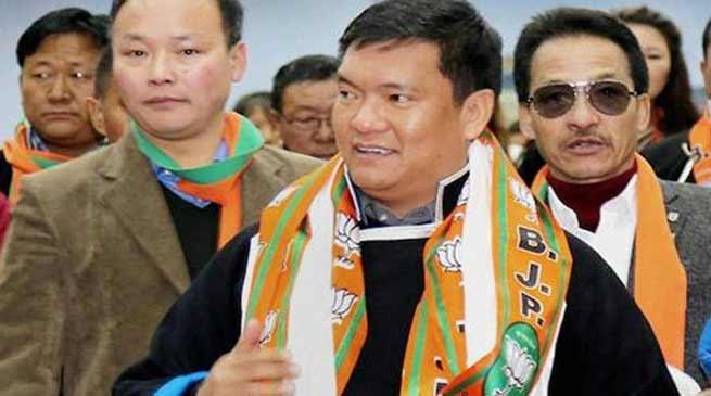 Chakma-Hajong issue is a mess created by Congress- Pema Khandu