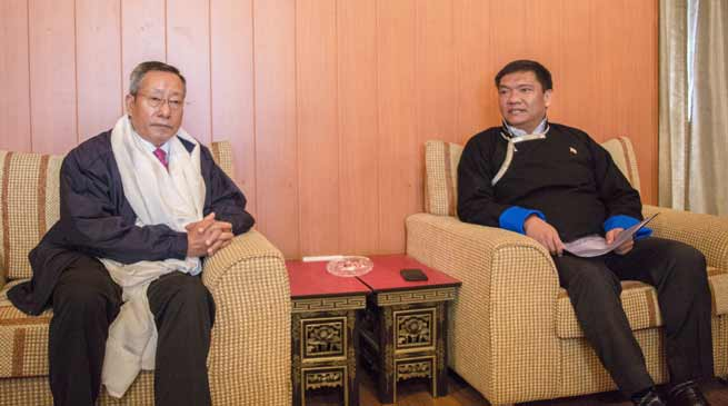 Pema Khandu meets with NEC Secretary, Ram Muivah