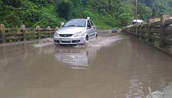 Heavy rainfall for last two three days shows  devastation in various parts of Arunachal Pradesh  including road disruption and loss of properties reported.