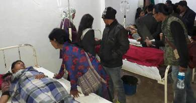 17 School Children of Govt. Hr. Sec School Palin injured in a road accident