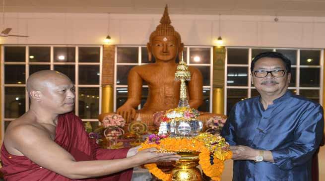 Namsai- Lord Buddha's relic put Golden Pagoda on world Buddhist tourism map