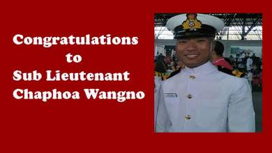 Photo of Arunachlee youth Chaphoa Wangno joins Indian Navy