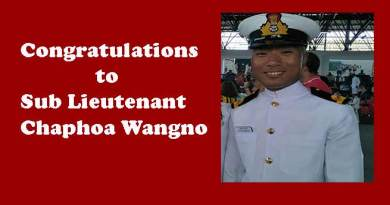 Arunachlee youth Chaphoa Wangno joins Indian Navy