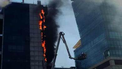 Mumbai- Fire Breaks out in Arunachal Bhawan