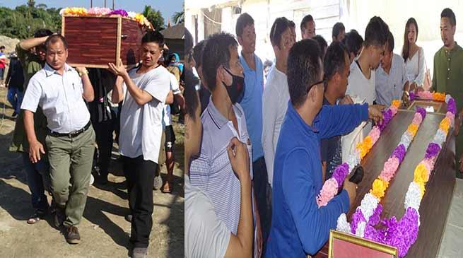 Hundreds paid floral tribute to former MLA Late Lokam Tado