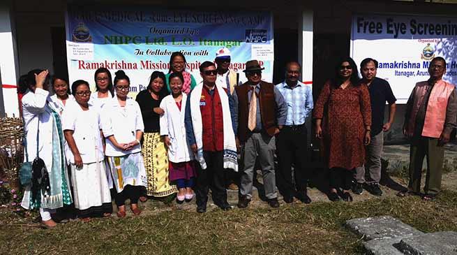 NHPC-RKMH organises free eye checkup camp