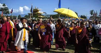 CM Khandu visits Lhagon Jangchup Choeling Monastery at Tezu