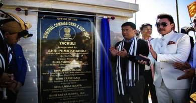 Khandu Inaugurates Divisional Commissioner (West) headquarters at Yachuli
