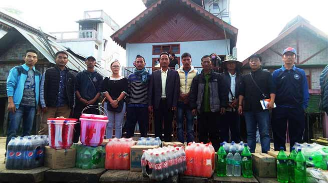 SUMMA team visits Hari Village, distributes relief materials to fire victims