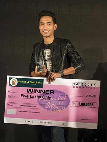Alar Dupak was declared as winner of Arunachal Idol Season-2