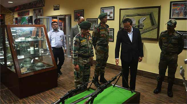Assam- MoS defence visits Dao HQ of Army at Dinjan