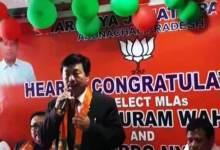 Photo of Watch Video- BJP Welcomes MLAs wins Arunachal By-polls