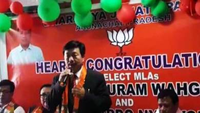 Photo of Watch Video- BJP Welcomes MLAs wins Arunachal By-polls