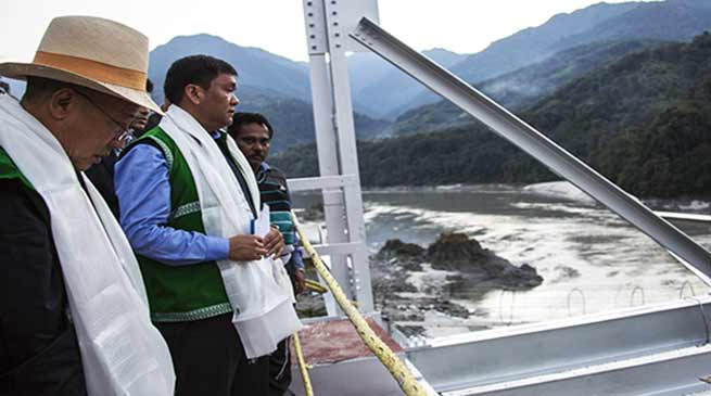 CM Khandu took stock the condition of the water in Siang River