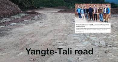 Arunachal: Sorang requests Khandu for more funds for Yangte-Tali road