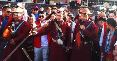 The rituals and chanting by the local priest began with the starting of the festival Si-Donyi festival in the Itanagar capital Complex.