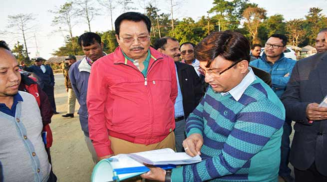 Chowna Mein inspects Trans Arunachal Highway stretch