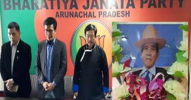 Arunachal: BJP condoles the demise of Late Kangir Jamoh