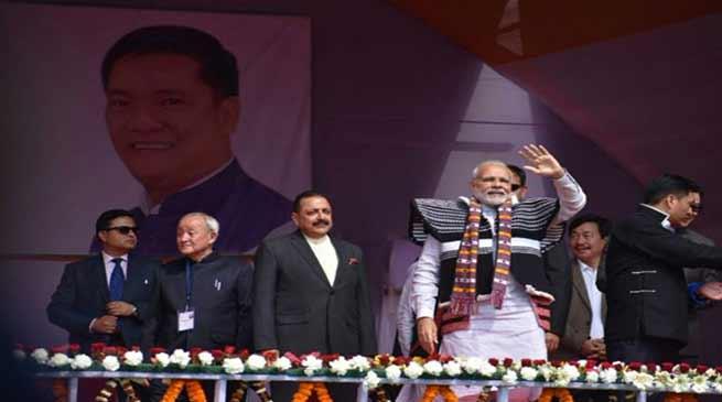 Arunachal: PM Modi Visits Itanagar-LIVE UPDATE