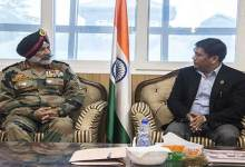 Photo of 4 Corps GOC Lt Gen GS Sangha calls on Arunachal CM