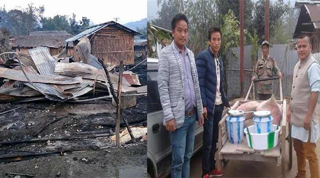 Arunachal: SUMAA-USU team visits Fire mishap victims at Daporijo