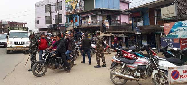 Arunachal: Police Violates No Parking rule in Itanagar