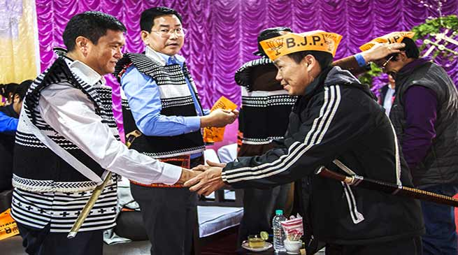Arunachal : 96 member from Anini Constituency joins BJP