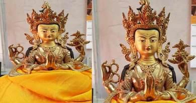 Arunachal : Buddhist deity Chenrezi gifted by Dalai Lama installed at Ku-Brah Mukto village