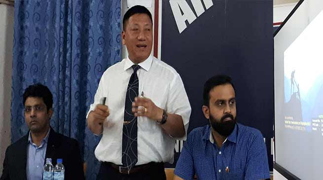 Arunachal: Robin Hibu presents PP on assistance to the NE people