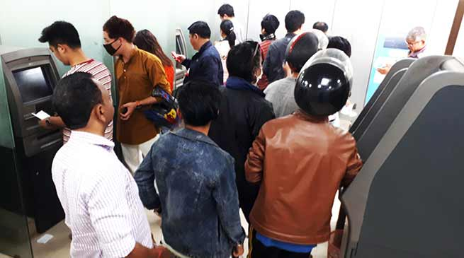 Arunachal : Banks and ATMs running 70% short of cash in Itanagar