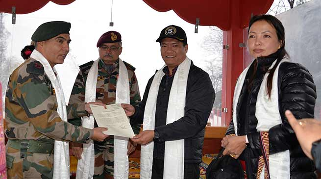 Arunachal CM appreciates the  Army for facilitating recruitment rallies