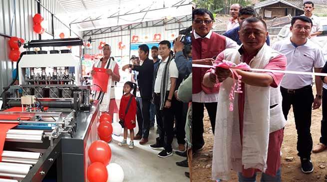 Arunachal : Phurpa Tsering inaugurates a New non-woven Unit