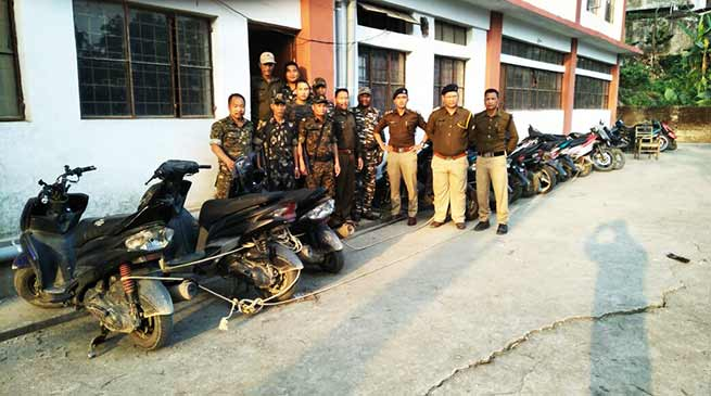 Itanagar police nabbed Bike lifters, recovered 11 two wheelers