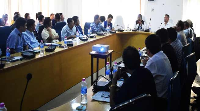 Itanagar: State level review meeting of Swachh Bharat Mission held