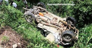 Arunachal:  4 dies, 5 injured when Tata Sumo falls in to gorge