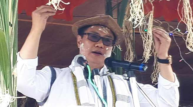 Arunachal : Rijiju appeal the people to cooperate for construction of Potin-Pangin TAH