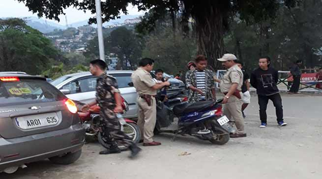 Itanagar:  Surprise Checking of Two Wheeler riders