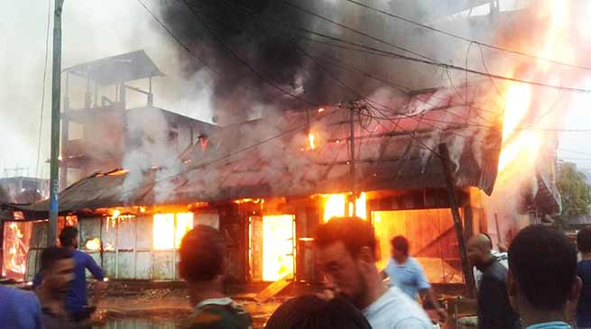 Arunachal: Massive Fire at Aalo town, 12 shops gutted