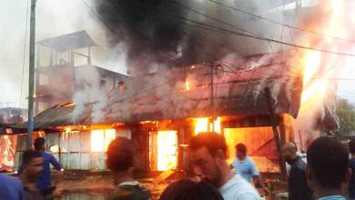 Photo of Arunachal:  Massive Fire at Aalo town, 12 shops gutted