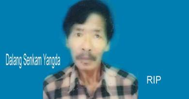 Itanagar:  YWS Condole the death of Hoj GB Dalang Senkam Yangda