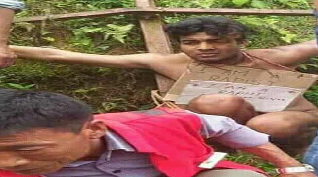 Nagaland: Rape accused beaten and paraded naked