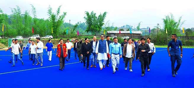 Arunachal: Mein inaugurates Astro-Turf Hockey Ground at Chimphu