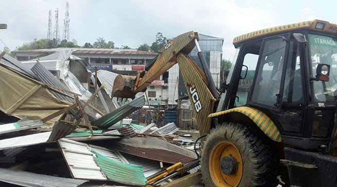 Arunachal:Talo Potom evicted many structure from TRIHMS area