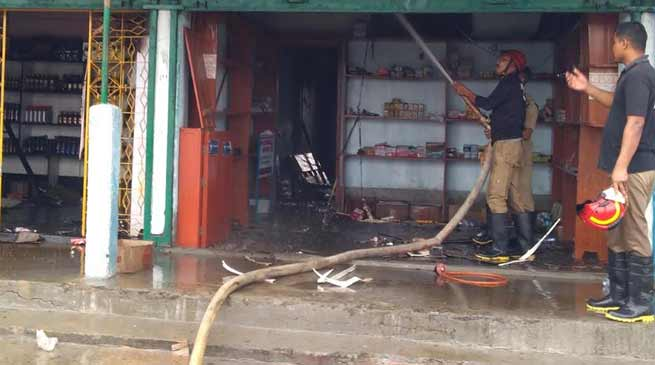 Arunachal: 3 shops gutted in fire mishap in Hollongi