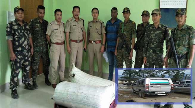 Arunachal:Capital police detained ILP violator, seized 70 Kg Ganja