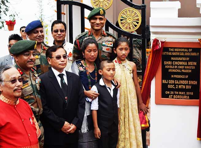 Arunachal: Martyr Hangpan dada's Memorial inaugurated