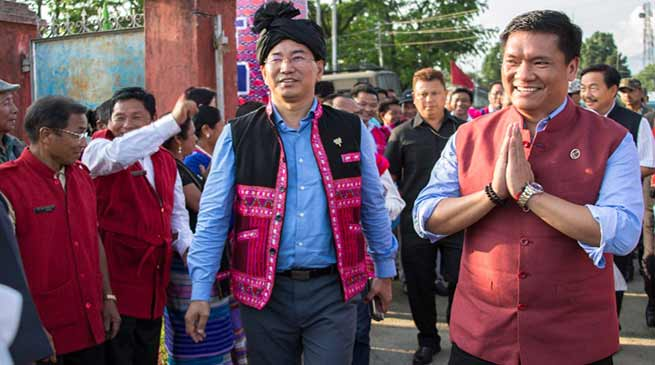 Arunachal CM announced 15 cr for flood protection work at Sukha Nallah, Tezu