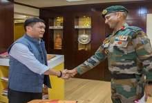 Photo of Major General Gajinder Singh Calls on Arunachal CM