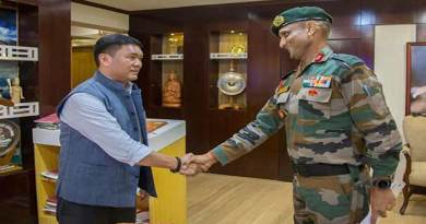 Major General Gajinder Singh Calls on Arunachal CM
