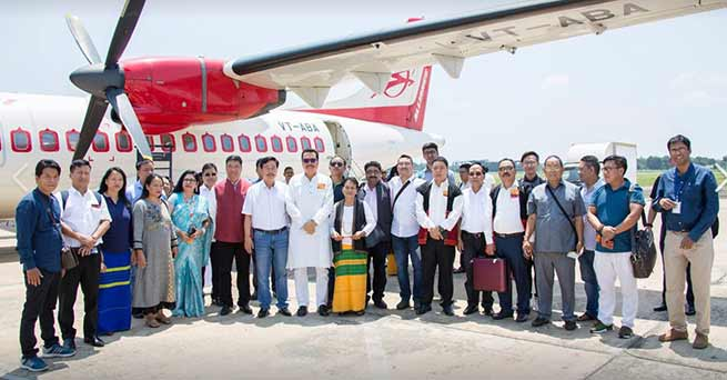 Arunachal: Khandu flags off First commercial flight from Pasighat